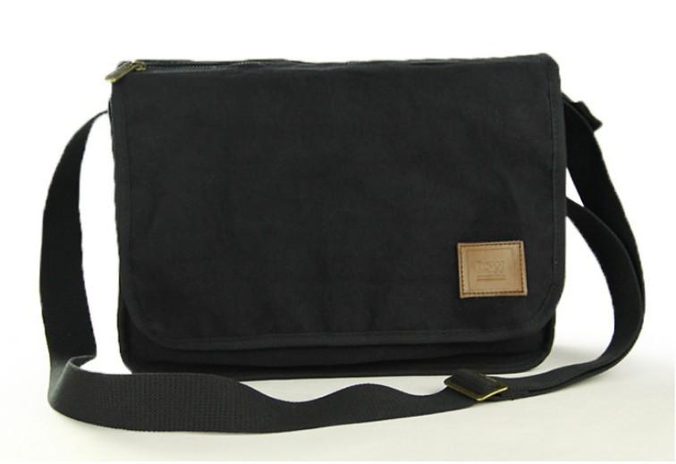 ... black mens canvas shoulder bag ... JWOALST