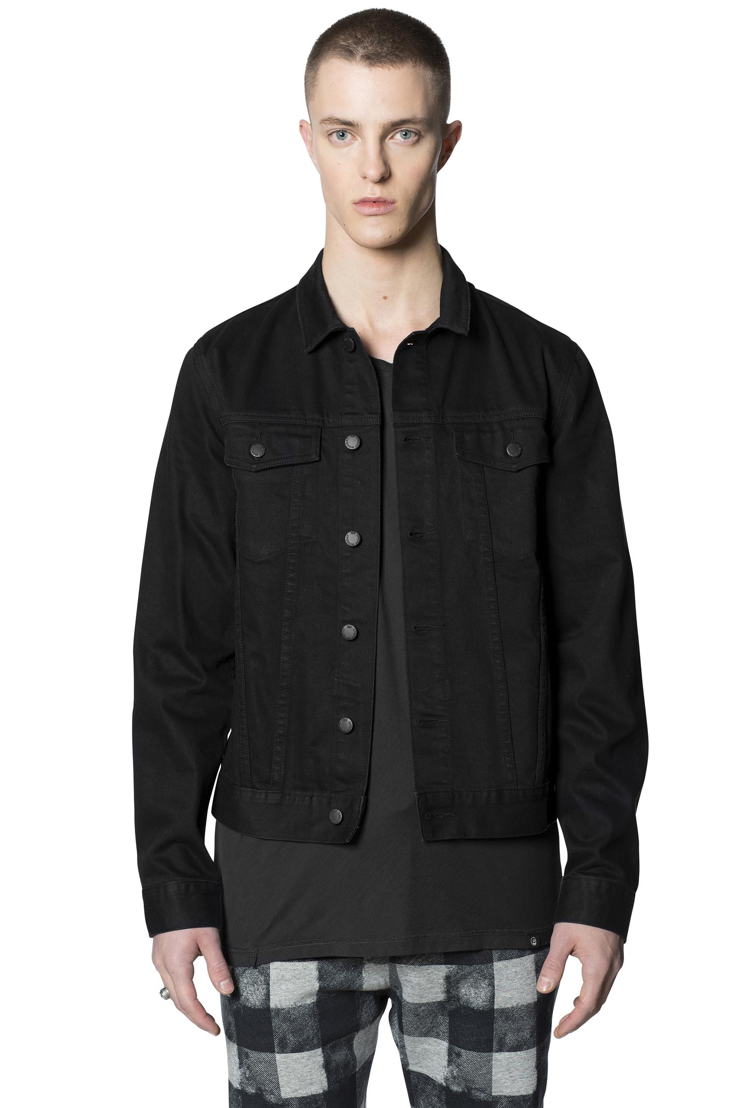 ... cheap monday image 4 of staple rinse black denim jacket in rinse black APKBULT