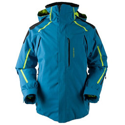 ... colorswatch30 obermeyer charger tall mens insulated ski jacket, high  seas, 256 MIFWGBB