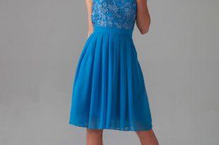 ... lace bodice chiffon dress TAJHFHE