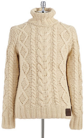 ... superdry turtleneck cable knit sweater ... UHJBGPL