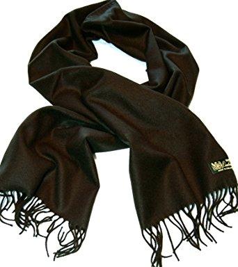 100%cashmere scarf--80 rich colors! super soft (black) JMAUAVE