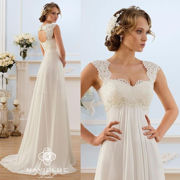 2015 chiffon maternity wedding dresses open back a line lace bridal gowns  for pregnant BYNGVYC