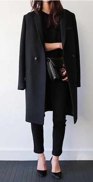 25+ best ideas about black coat outfit on pinterest | coat, black oxfords  outfit VTGZUBK