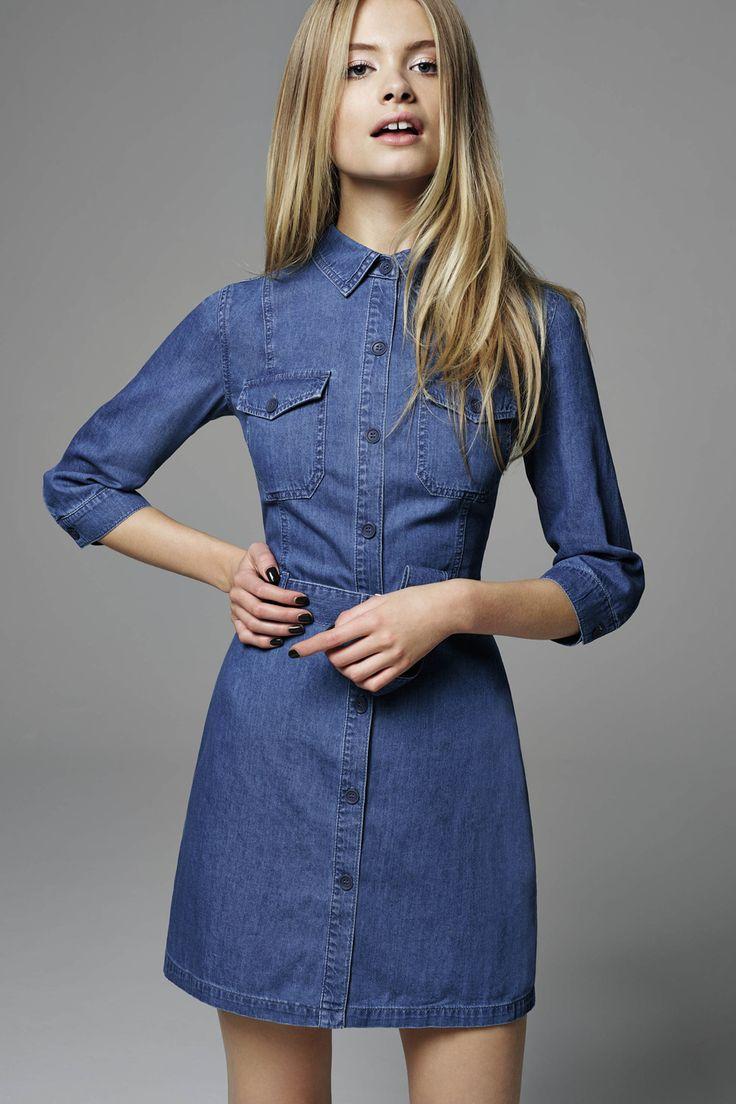 25+ best ideas about long denim dress on pinterest | modest clothing,  modest fashion IYJXVTQ