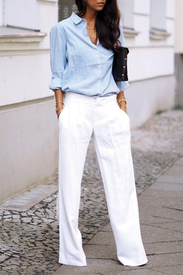 25+ best ideas about white pants on pinterest | spring style, white pants  fashion SJRMVBF