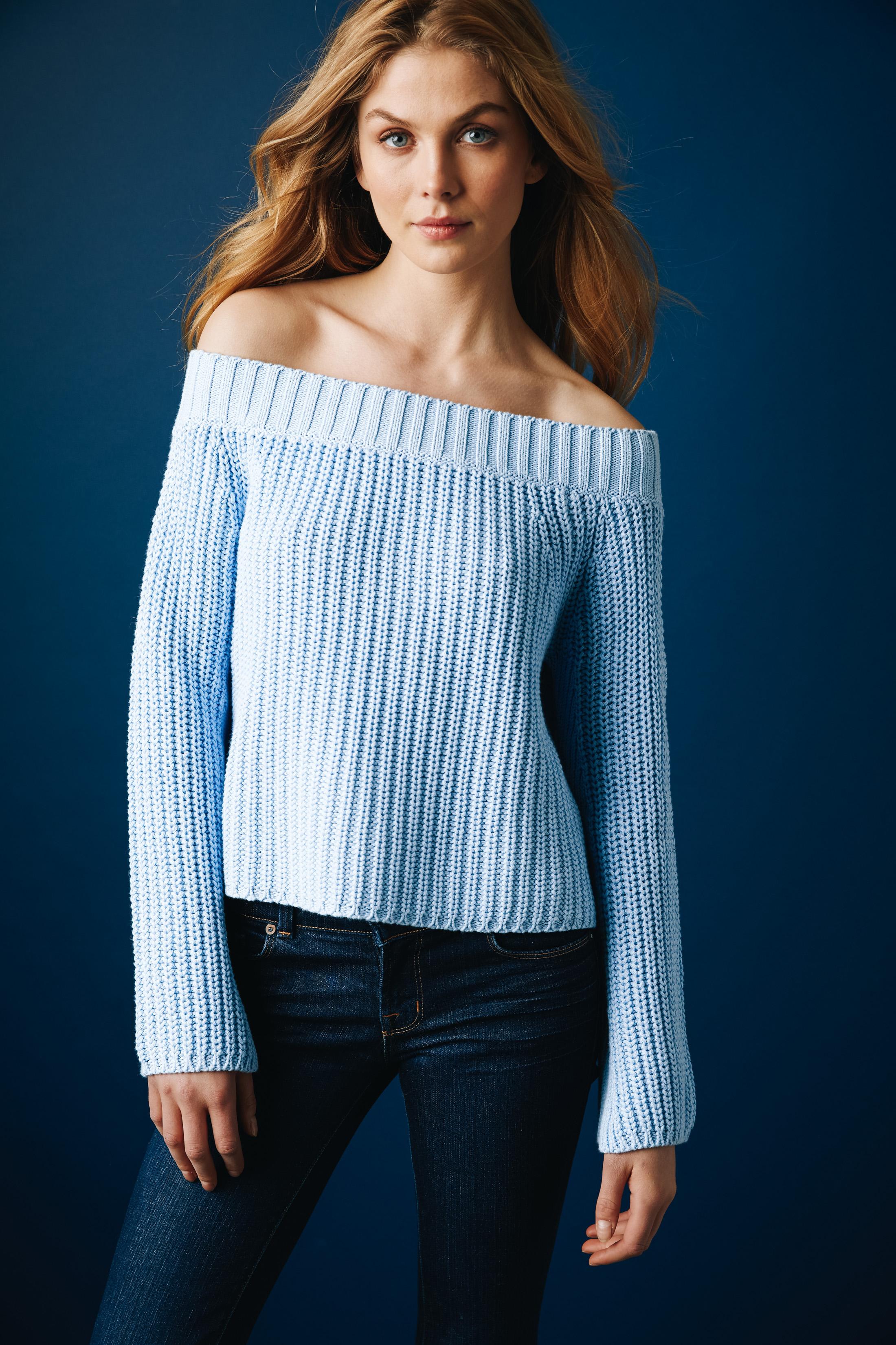 525 america. shaker off the shoulder sweater ... AOQVPFK