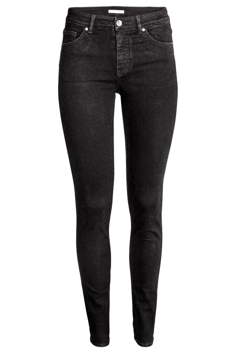 9 best black skinny jeans for winter 2017 - ripped and high waist black CADCAKS
