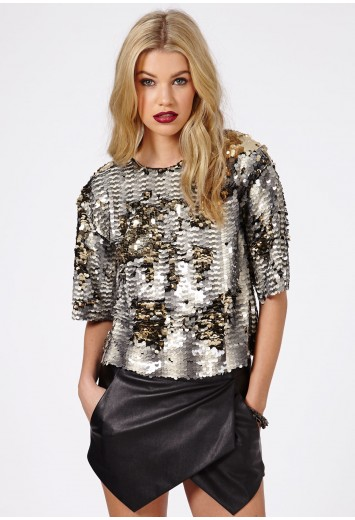 abele sequin top - tops - going out tops - missguided ESNIANU