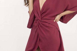 adriana black wrap dress ... DFKZMVH
