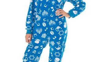 adult footed pajamas hanukkah fun pajamas ©footed pajamas FMKFEBX