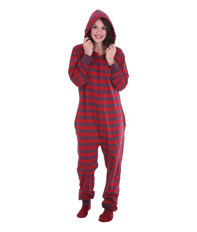 adult footed pajamas retro hooded adult onesie ZNVLOXH
