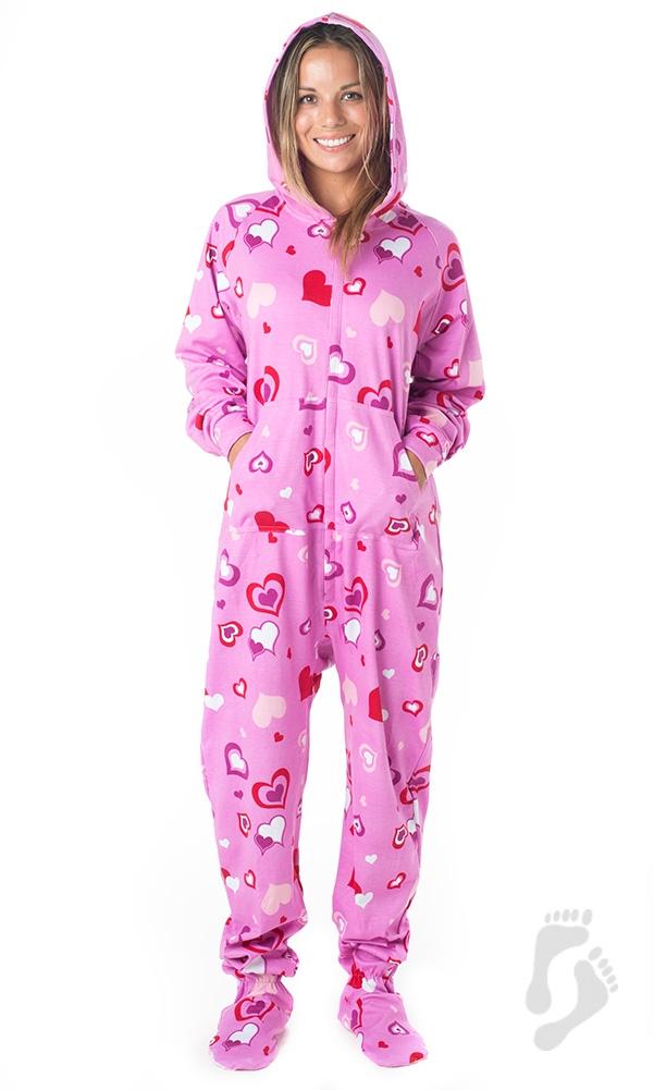 adult footed pajamas sweetheart pajamas ©footed pajamas ZDGDWTL
