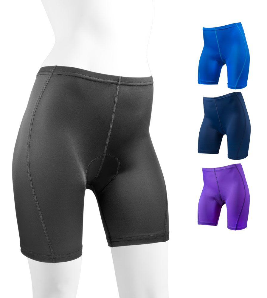 aero tech womenu0027s classic padded bike shorts ... OAHGUCL