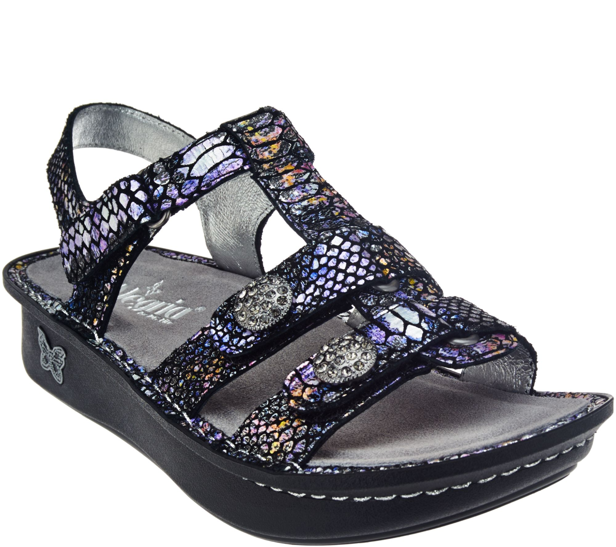 alegria shoes alegria leather multi-strap sandals w/ backstrap - kleo - a274226 SSBGOMP