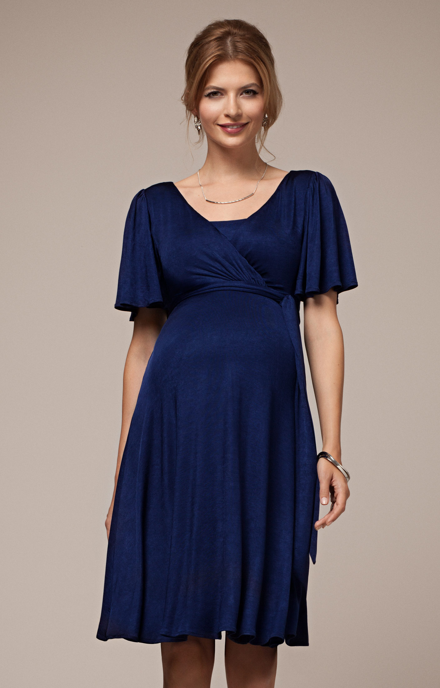 alicia nursing dress eclipse blue by tiffany rose KPTDRKF