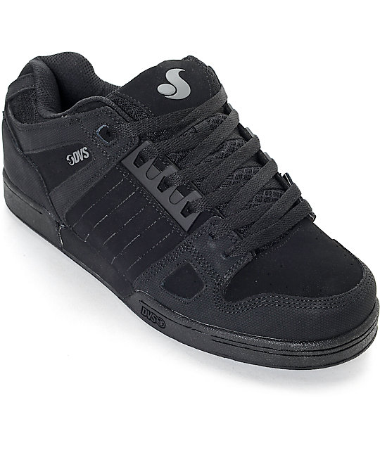 all black shoes dvs celsius diamond all black skate shoes OFMPJQO