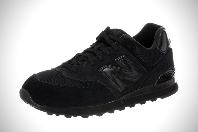 all black shoes new balance 574 running shoes GFPMXQP