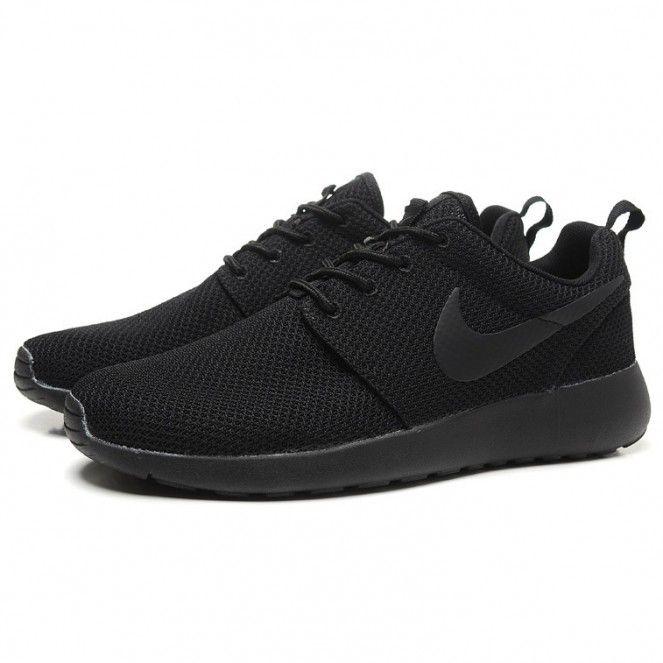 all black shoes nike roshe run splatter pack running shoes all black NRICMXY