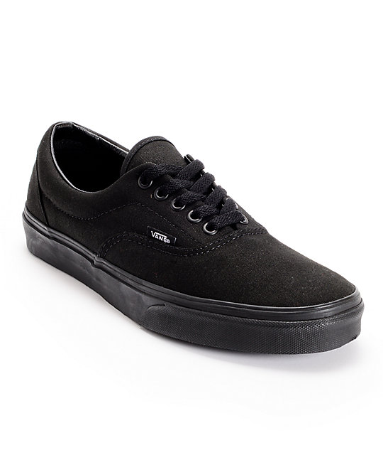 all black shoes vans era classic all black skate shoes MMCFRVO