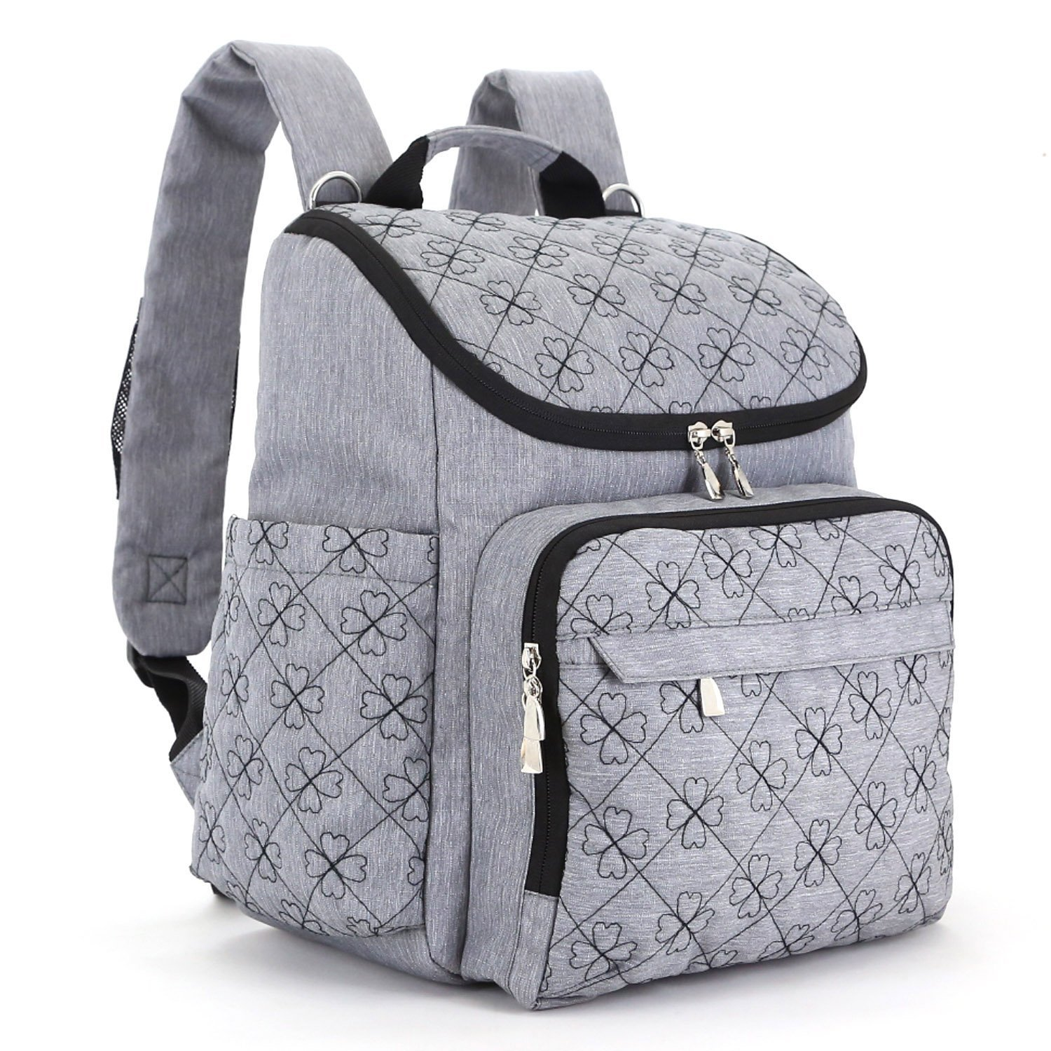 amazon.com : diaper bag backpack with baby stroller straps by hyblom,  stylish travel designer KGBPHKC