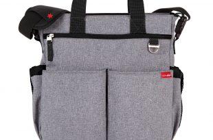 amazon.com : skip hop baby duo signature diaper bag, heather grey : baby TLYVWBX