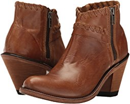 ankle boots for women old west boots - criss cross stitch ankle boot HIBULGZ