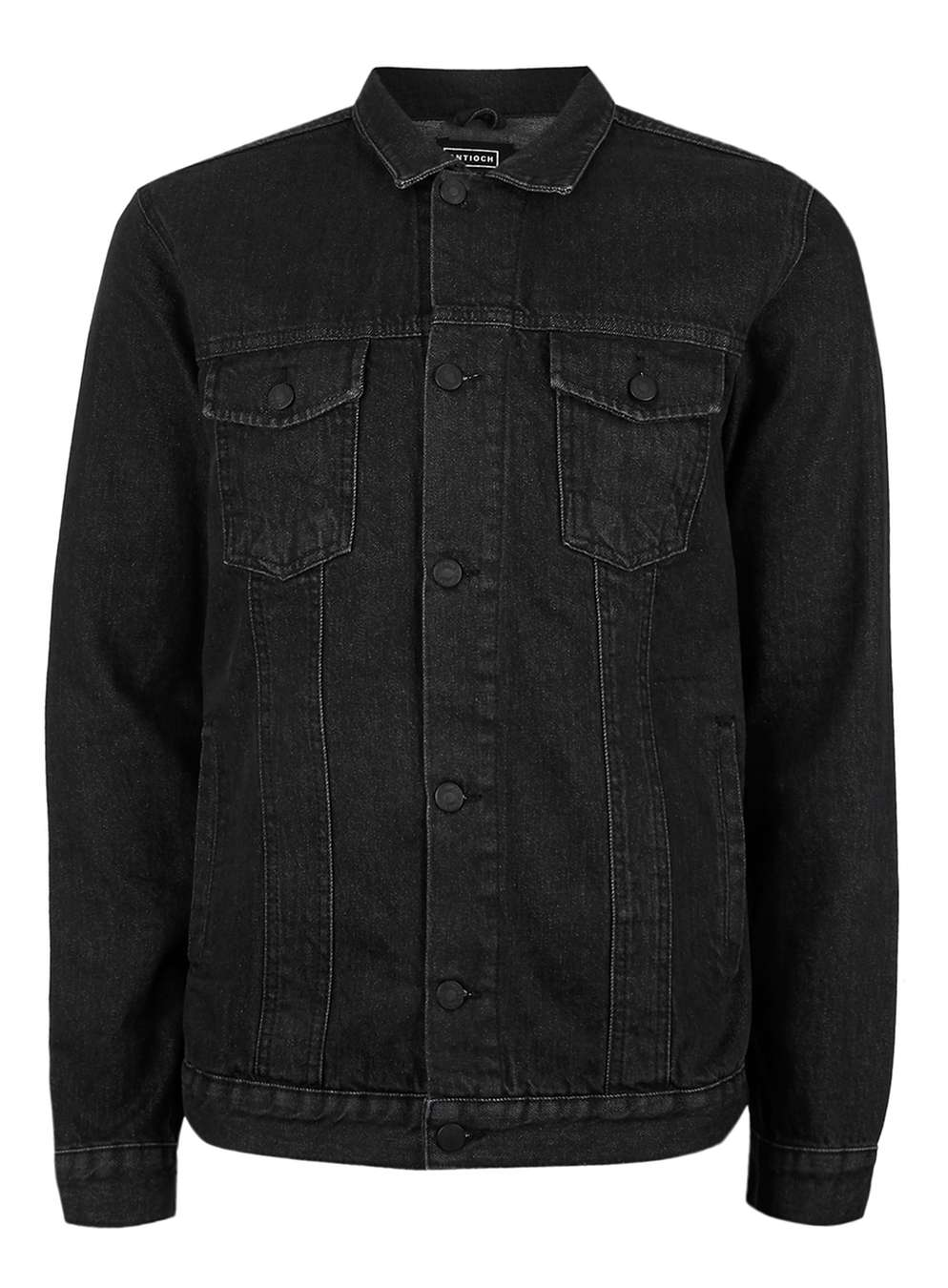 antioch black denim jacket* - topman VICWFYM