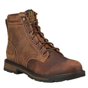 ariat menu0027s 6u201d groundbreaker lace-up work boots TMFEZTY