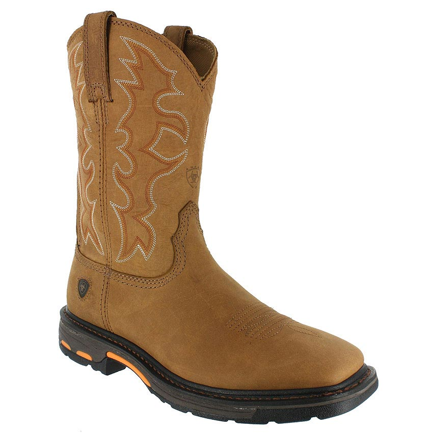 ariat work boots ariat menu0027s workhog square toe work boots AHYZOPM