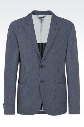 armani jackets armani blazers men upton wool and cotton jacket QXJXYIG