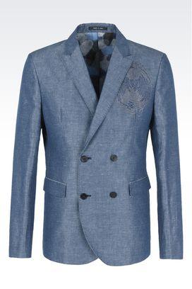 armani jackets armani double-breasted jackets men jackets SLFULMD
