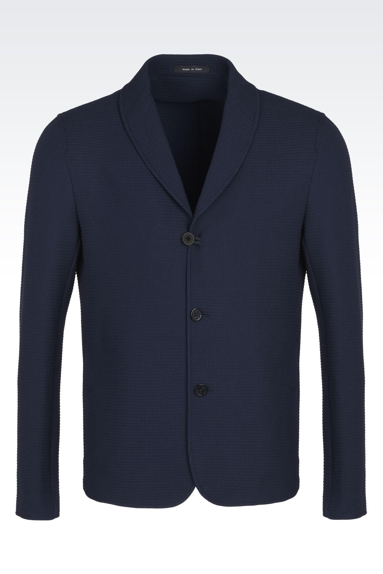 armani jackets men textured sweater jacket RYALGWN