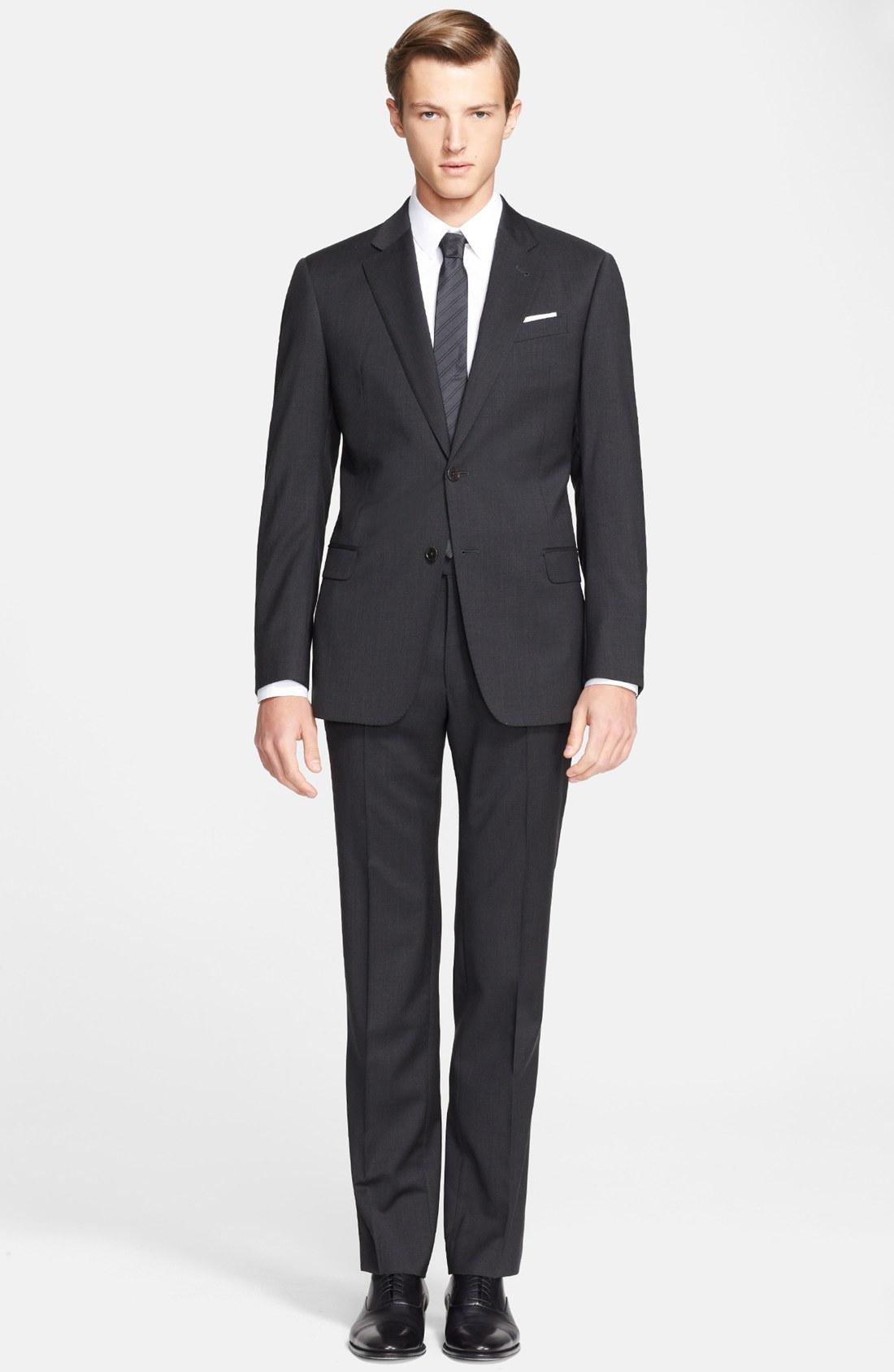 armani suit armani collezioni u0027giorgiou0027 trim fit wool suit | nordstrom PBKSRKY