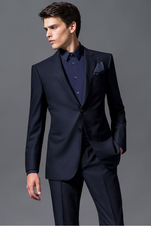armani suit single-breasted suit in wool and cashmere: suits men by armani - 2 EITRPFC