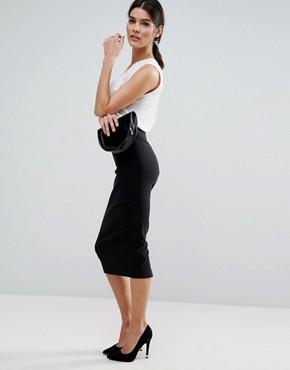 asos high waist longerline pencil skirt XQWJSBH
