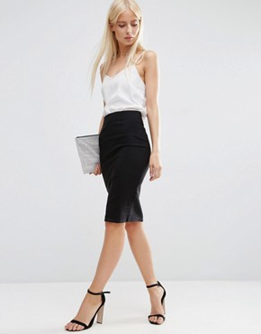 asos high waisted pencil skirt PAFFWVL