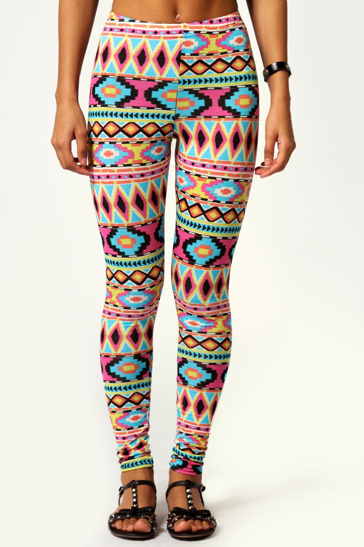 aztec leggings image is loading boohoo-rebekka-full-length-aztec-print-leggings ZRUJBAE