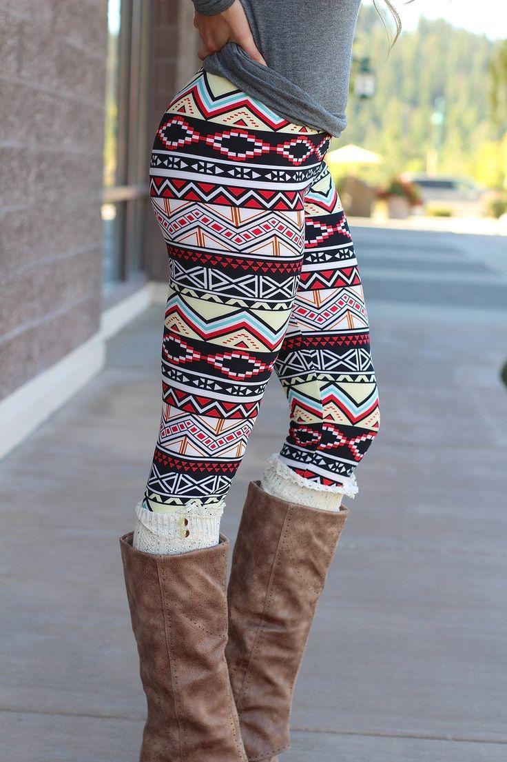 aztec leggings nanamacs boutique - chevron pyramids aztec print leggings, (http://www. OVBILTJ