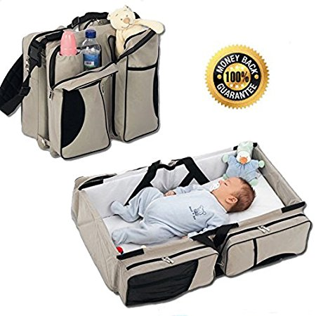 baby bags amazon.com : boxum baby 3 in 1 portable bassinet, diaper bag and change  station CJUNZCE