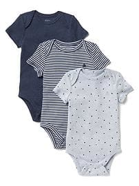 baby boy clothes favorite starry short sleeve bodysuit (3-pack) WVJSUYU