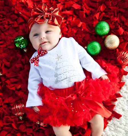 baby girl christmas outfits bling christmas tree onesie, red sparkle pettiskirt u0026 matching headband  outfit set-christmas, EXUKKUZ