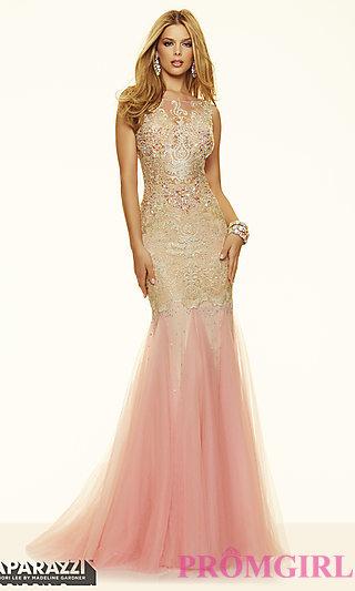 ball gown prom dresses mori lee lace illusion neckline dress-promgirl ERPUJFO