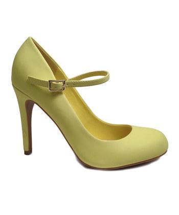 bamboo shoes lemon mary jane pump YLMQDRW