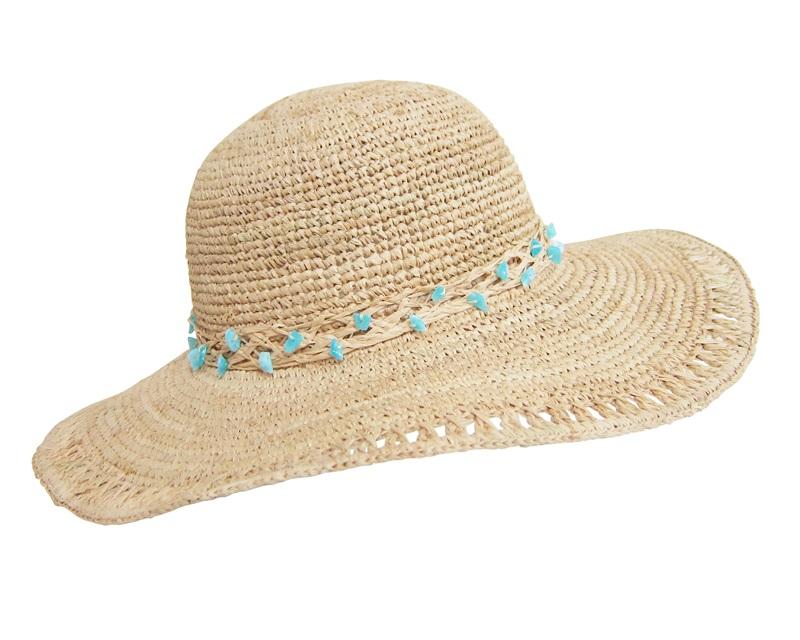 beach hats crochet raffia sun hat-boardwalk style ABAVWHJ