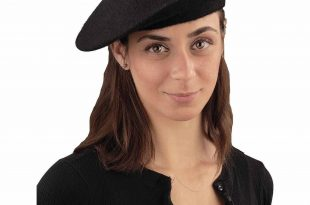 beret hat black beret adult halloween costume accessory WFMACFN