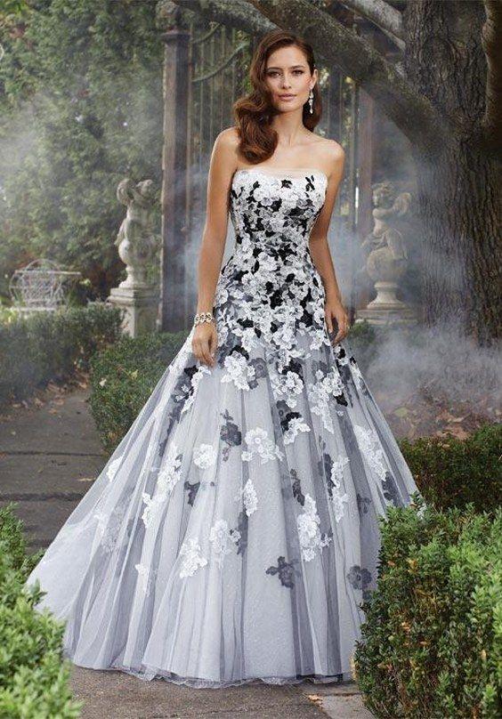 black and white wedding dress 50 beautiful black wedding dresses you will love QLZXWIP