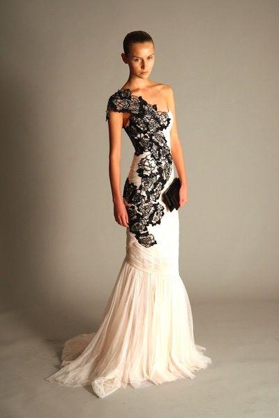 black and white wedding dress black-and-white-wedding-dress ZJINTSE
