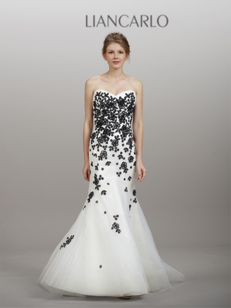 black and white wedding dress black and white wedding gowns from spring 2014 TQIHEVA