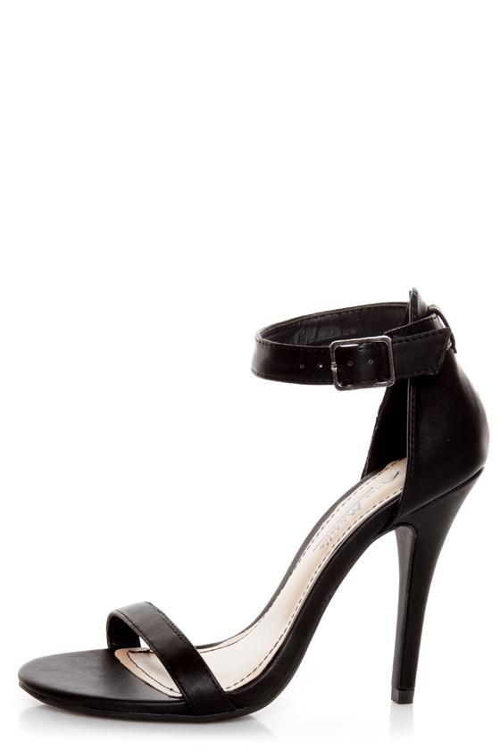 black ankle strap heels anne michelle enzo 01n black ankle strap sandal heels - $26.00 FGSUVGT